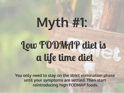 Myth 1: Low FODMAP Diet is a Life Time Diet