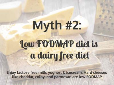 Myth 2 Low FODMAP Diet is a Dairy Free