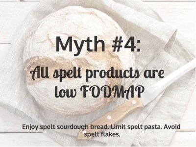 Myth 4: All Spelt Products are Low FODMAP