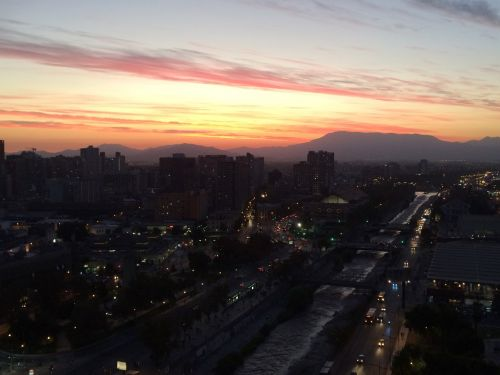 Stunning Sunset in Santiago FODMAP Adventure