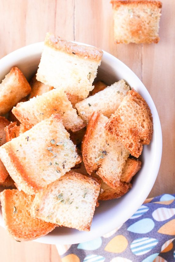 Low FODMAP Garlic Infused Croutons
