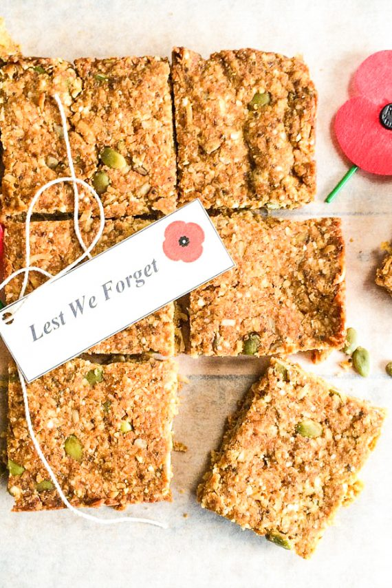 Low FODMAP Anzac Day Slice