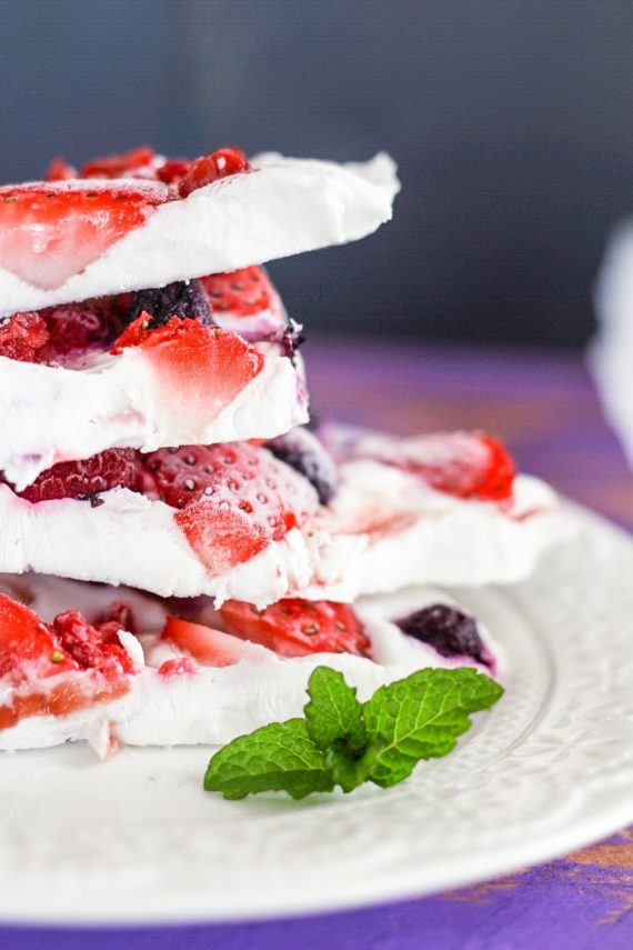 Low FODMAP Berry Bliss Frozen Yoghurt Bark