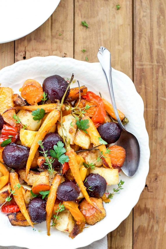 Low FODMAP Gorgeous Roast Vegetables