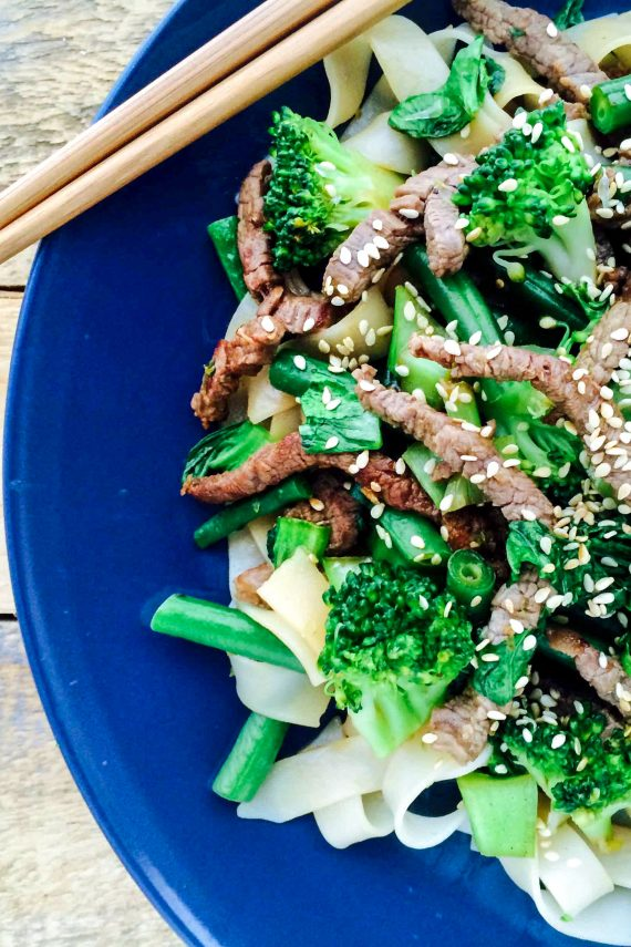 Low FODMAP Lime And Sesame Beef Stir-Fry