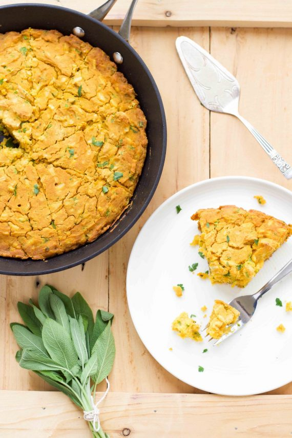 Low FODMAP Pumpkin & Sage Cornbread