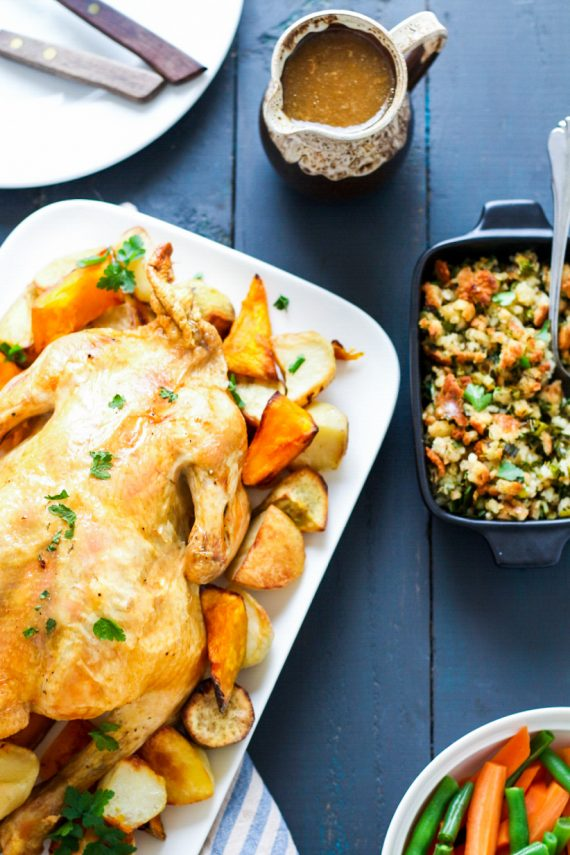 Low FODMAP Roast Chicken with Homemade Stuffing
