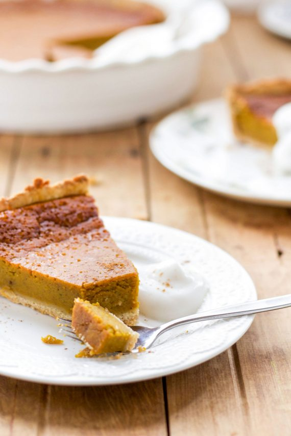 Low FODMAP Rustic Pumpkin Pie