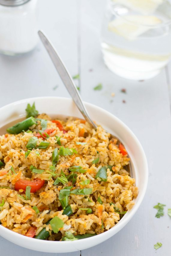 Low FODMAP Salmon Fried Rice
