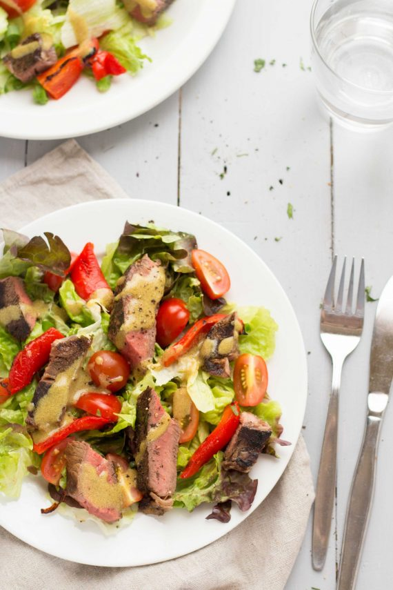 Low FODMAP Summer Beef Salad with Mustard Vinaigrette