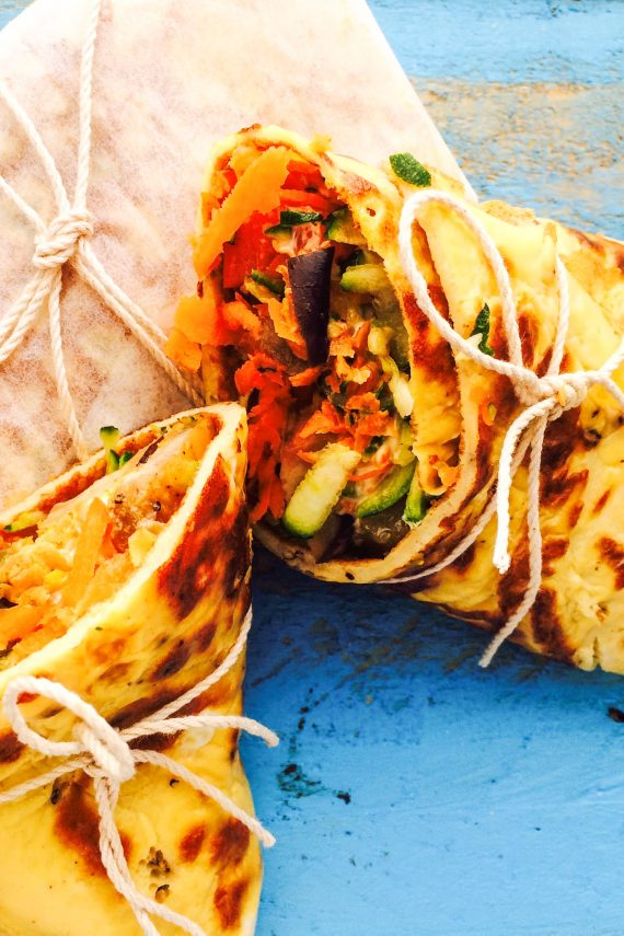 Tasty Egg Wraps with Garlic Infused Dressing