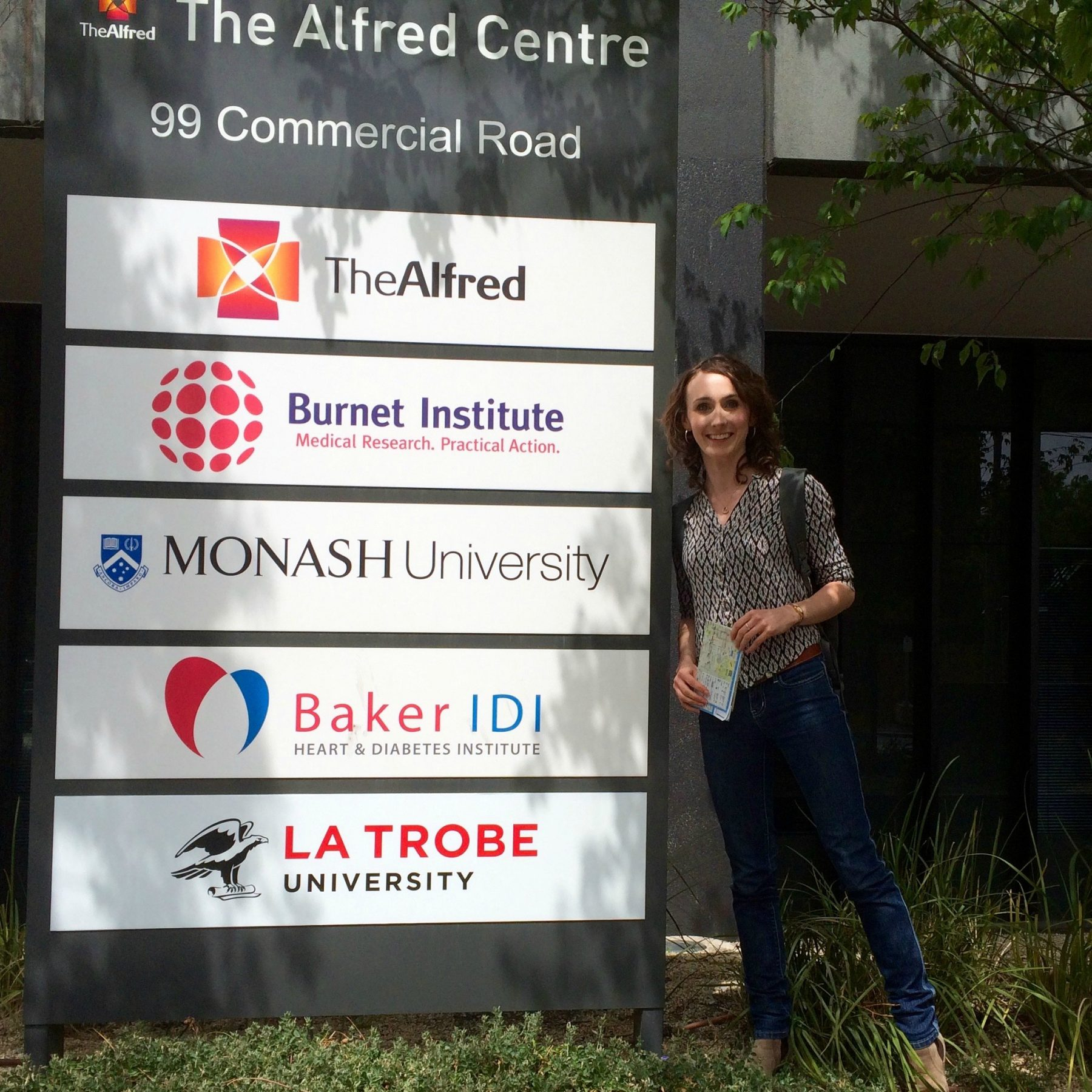 Alana at Monash University visiting the Monash FODMAP Team