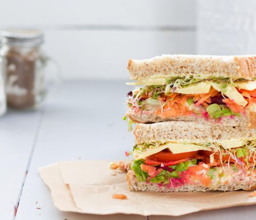 Salad sandwich makes the perfect low FODMAP lunch box filler