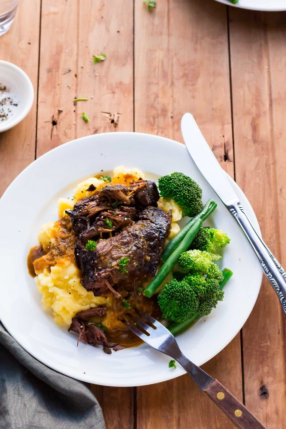 Low FODMAP Slow Cooked Beef Cheeks