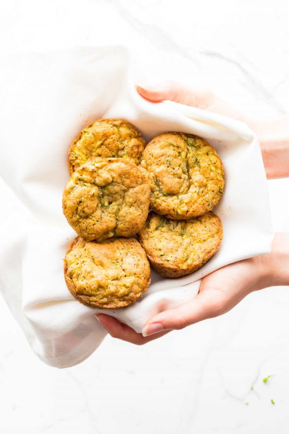 Low FODMAP Lemony Poppyseed & Zucchini Muffins