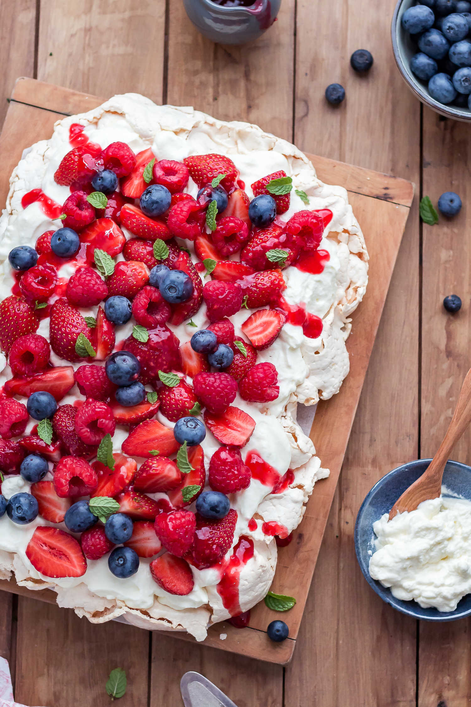 Low FODMAP Berry Pavlova