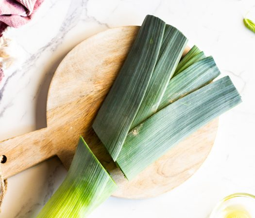 How To Use Low FODMAP Leek Leaves