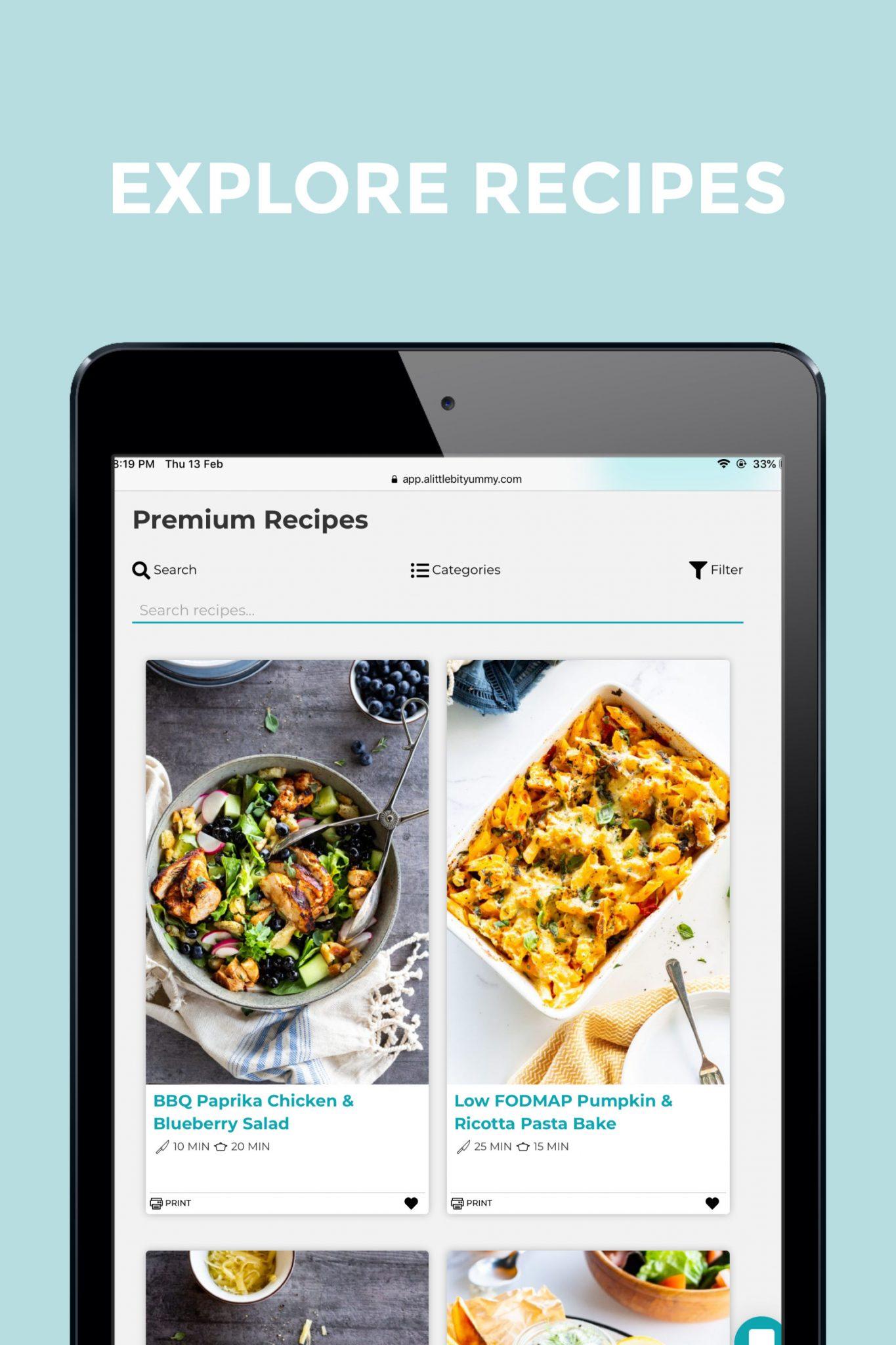 Explore low FODMAP Recipes