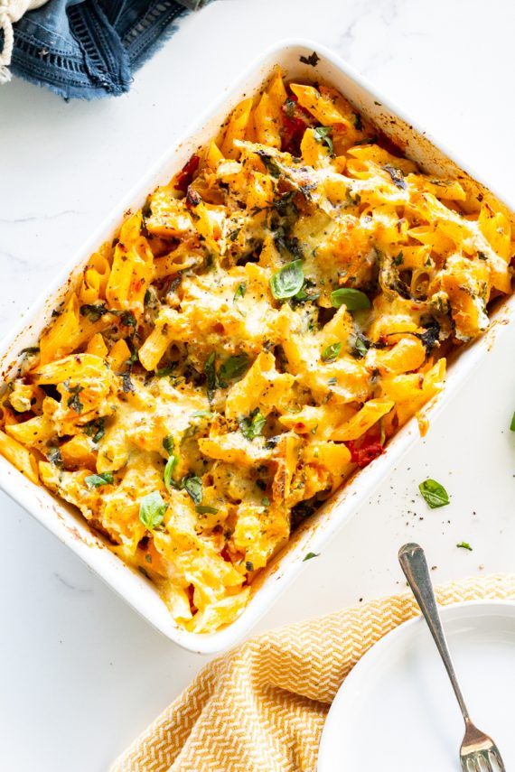 Low FODMAP Pumpkin Ricotta Pasta Bake