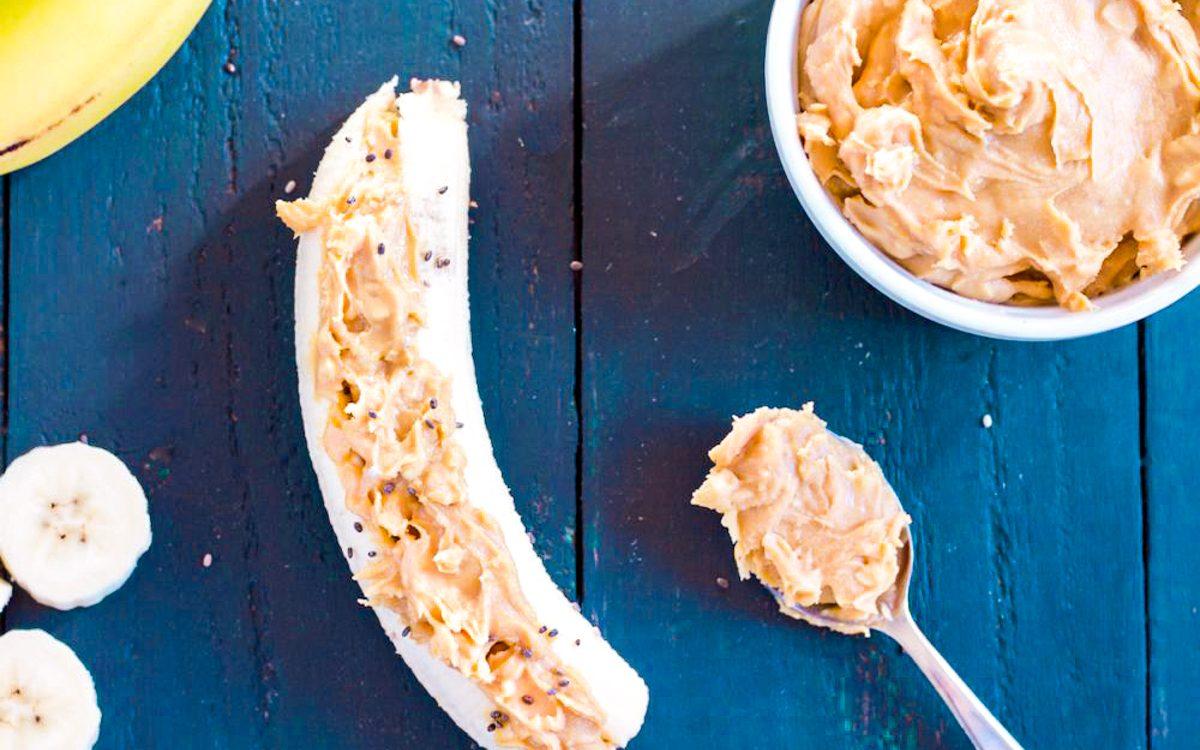 Low FODMAP Banana Peanut Butter Snack