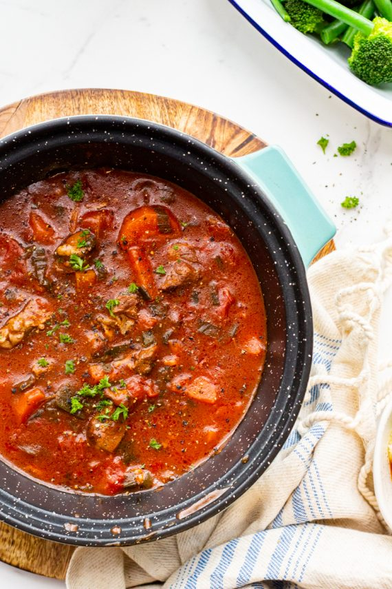 Low FODMAP Red Wine & Lamb Stew