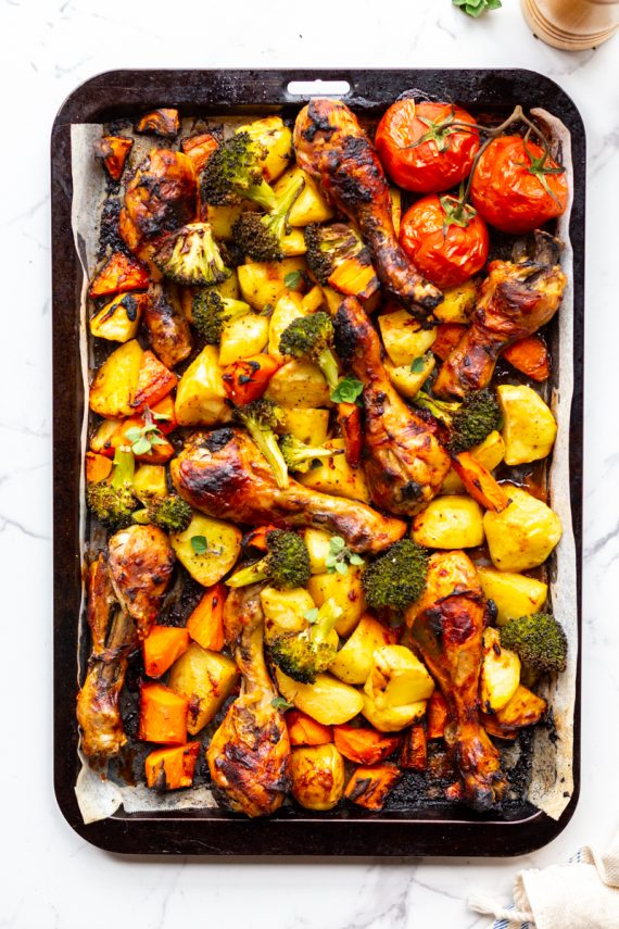 Low FODMAP Yummy Paprika Chicken Traybake