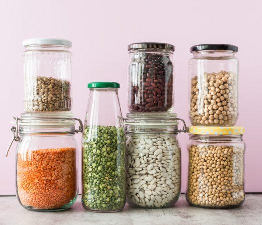 Low FODMAP Beans & High FODMAP Beans In Glass Jars