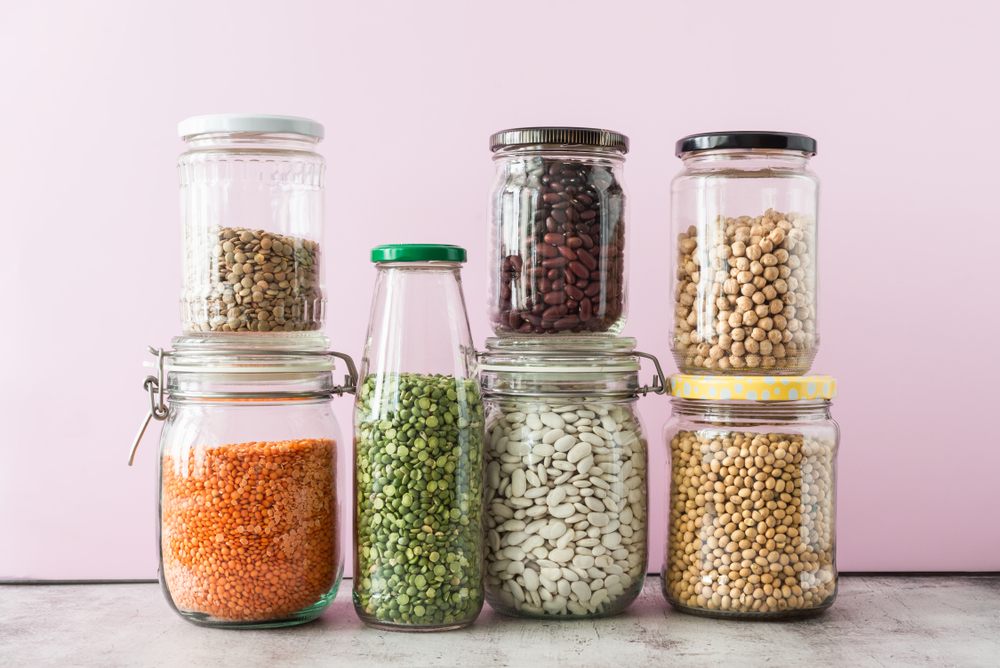 Low FODMAP Beans & High FODMAP Beans In Glass Jars