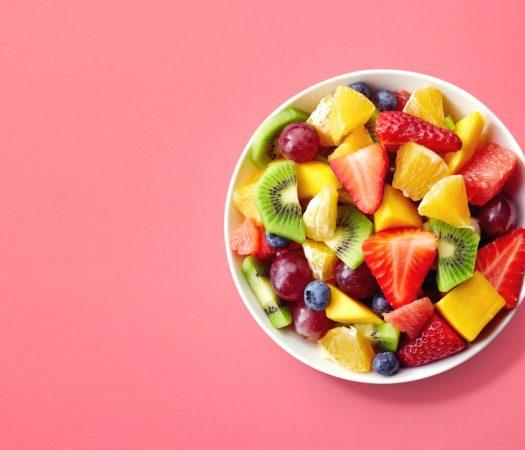 Low FODMAP Fruit & High FODMAP Fruit in Bowl