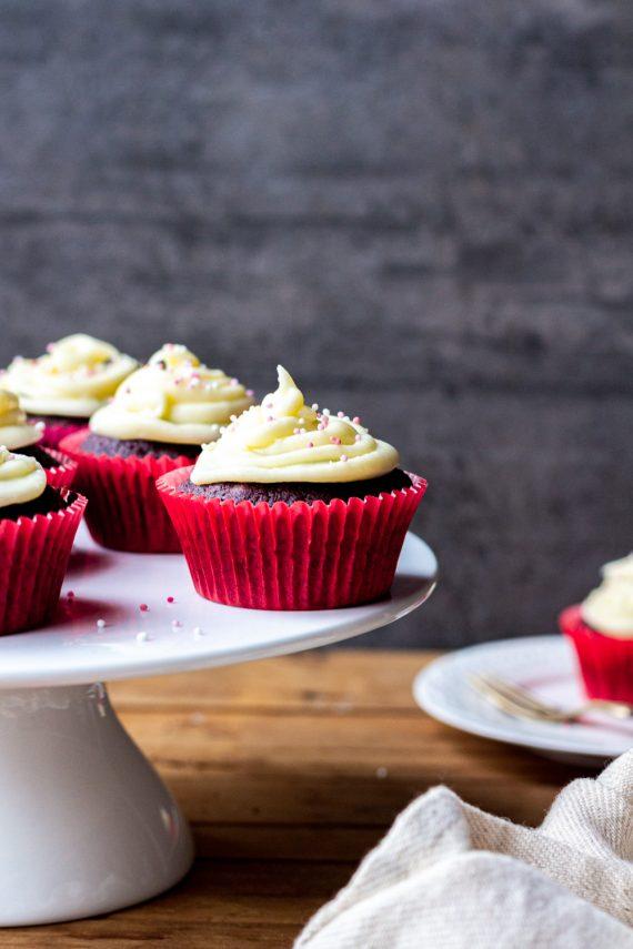 Low FODMAP Red Velvet Cupcakes