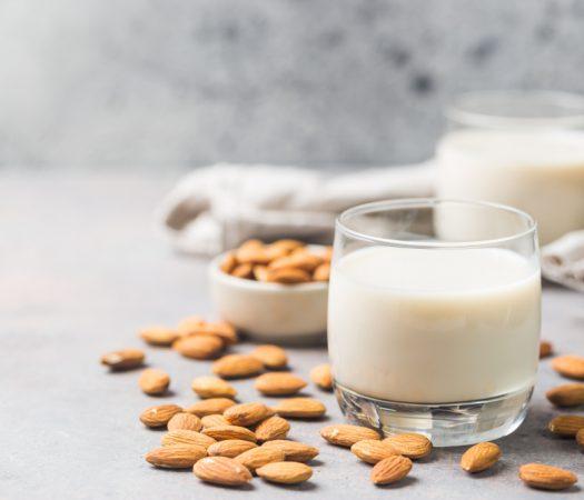 Almond Milk Low FODMAP In Glass